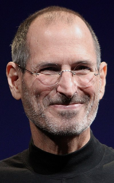 Steve Jobs, American entrepreneur and co-founder of Apple Inc.