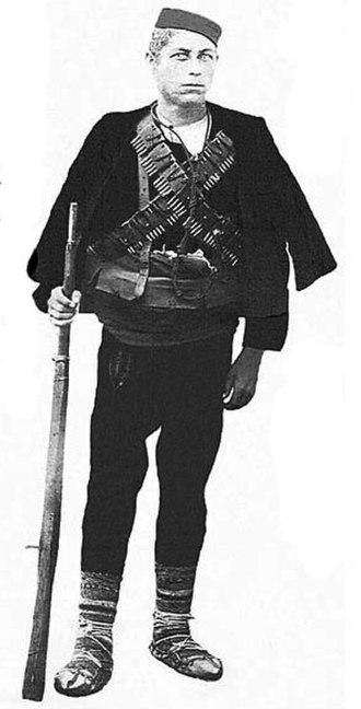 Stojan Koruba - Stojan Koruba in Chetnik gear.