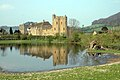 Stokesay Castle, Church and reflection - geograph.org.uk - 662658.jpg