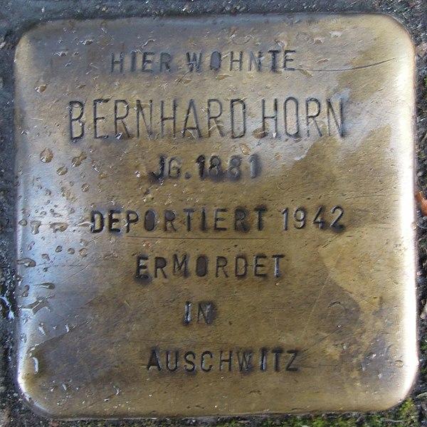 File:Stolperstein Düren Schenkelstraße 22 Bernhard Horn.JPG