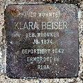 Stolperstein Gneiststr 8 (Grune) Klara Beiser.jpg