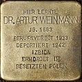 Stolperstein Köln, Dr. Artur Weinmann (Vogelsanger Straße 1).jpg