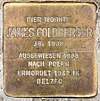 Stolperstein Münchener Str 48 (Schöb) James Goldberger.jpg