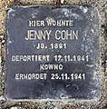 Stolperstein Otto-Nagel-Str 19 (Biesd) Jenny Cohn.jpg