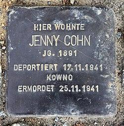 Photo of Jenny Cohn brass plaque