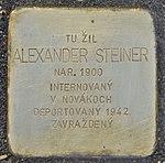 Stolperstein für Alexander Steiner (Prievidza).jpg