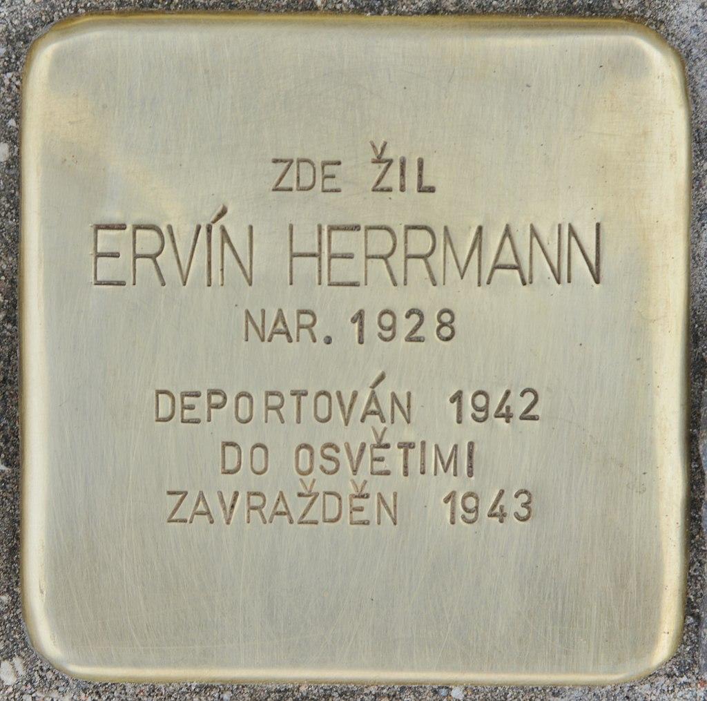 Stolperstein für Ervin Herrmann (Slatiňany).jpg