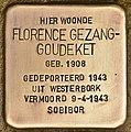 Stolperstein für Florence Gezang-Goudeket (Den Haag).jpg