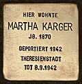 Stolperstein für Martha Karger (Cottbus).jpg