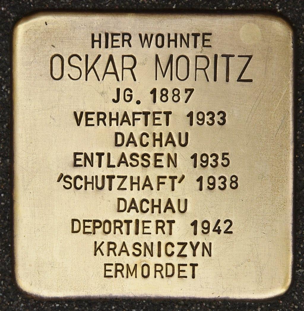 Stolperstein für Oskar Moritz (Miltenberg).jpg
