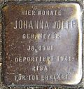 Stumbling block for Johanna Wolff (Frankstrasse 12)