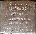 Stumbling block for Martha Schön (Sternengasse 48)