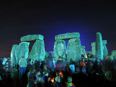 A community of interest gathers at Stonehenge, England, for the summer solstice.