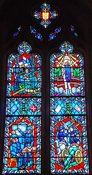 Stonewall Jackson - Stained glass of Jackson's life in the Washington National Cathedral in part depicting his service in the Mexican–American War