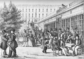 1841 in Sweden - Strömparterren tecknad av Dardel 1841
