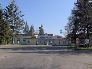 Česká zbrojovka Strakonice - Entrance gateway of the Česká Zbrojovka factory in Strakonice.