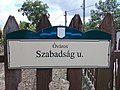 Street sign, Szabadság Street, Old Town, 2020 Százhalombatta.jpg