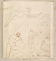 Studies for Apollo and Daphne, Zeus and Juno, Orpheus and Eurydice and other figures (recto and verso) MET DP820293.jpg