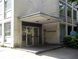 Suhrkamp Verlag - The entrance of the (now demolished) Suhrkamp-building in Frankfurt