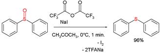 Deoxygenation - Sulfoxide deoxygenation