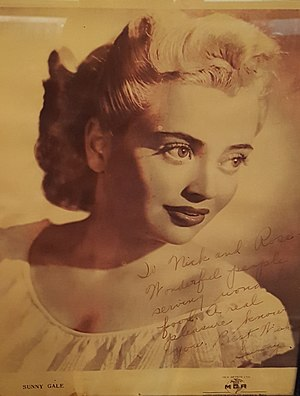 Sunny Gale - c. 1950
