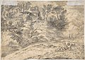 Sunrise (recto); Landscape with Figures (verso) MET DP805695.jpg