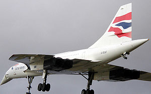 Supersonic transport - Concorde landing