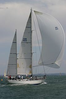 Ketch type of sailing boat