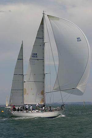 Swan 65 - Image: Swan 65 Desperado GBR1665 2011 Euros 2