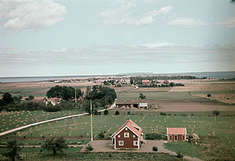 Vättern - View of Visingsö island (1945)