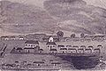 A pen and wash drawing of Sydney in 1796