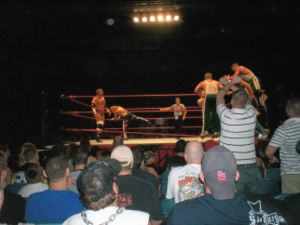 The Spirit Squad - The Spirit Squad wrestling against D-Generation X in a handicap match at a house show.