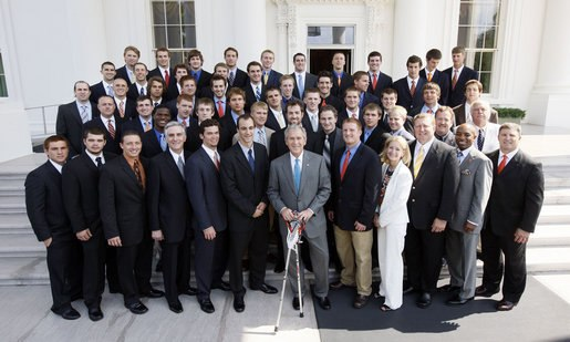 Syracuse lacrosse at the WH