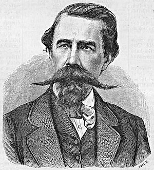István Türr - The 42-year-old István Türr at the time of his return to Hungary (drawing by Károly Rusz, 22 September 1867)