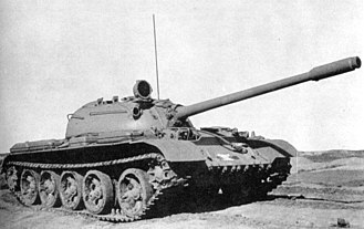 T-54/T-55 - The original T-55 lacked an antiaircraft machine gun mount.