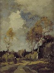 Landschap met berkenboompjes