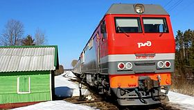 Файл:TEP70BS-239 with LDPR train, Rantsevo station.webm