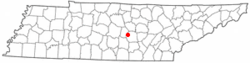 Location of Centertown, Tennessee