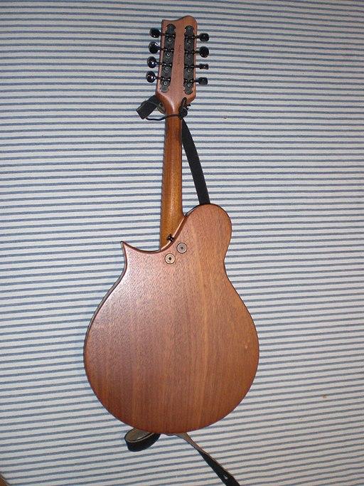 Tacoma M1 mandolin back