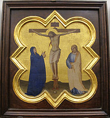 Four-sided lobed medallion of crucifixion from the sacristy of Santa Croce