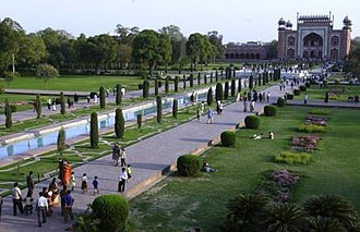 Garden - Garden of the Taj Mahal, India