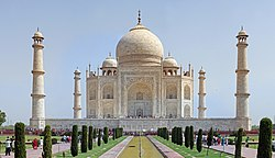 Site#252: The Taj Mahal, an example of world heritage site and also one of the wonders of the world