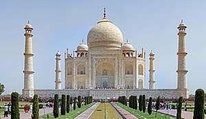 History of South Asian domes - The Taj Mahal in Agra, India.