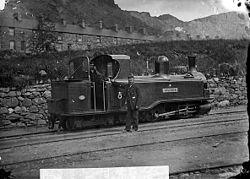 Taliesin engine, Ffestiniog railway NLW3363956.jpg