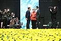 Tallinn Digital Summit. Round table Emmanuel Macron, Angela Merkel, Christian Kern (36683075674).jpg