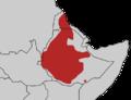 Tauraco leucotis map.png