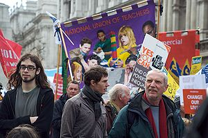 G20 protests in London. National Union of Teac...