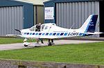Tecnam Sierra P2002 (G-CWFS) at Cotswold Airport England 18Jun2016 arp.jpg