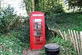 Telephone box, Chiddingstone - geograph.org.uk - 1260180.jpg