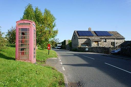Telephone box in Little Urswick, Lancs - geograph-3171124